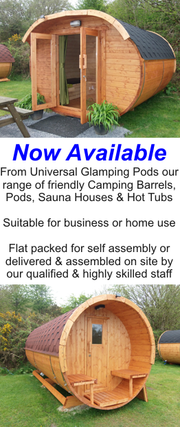 A range of low cost self assembly Camping barrels and Pods available from Universal Glamping Pods