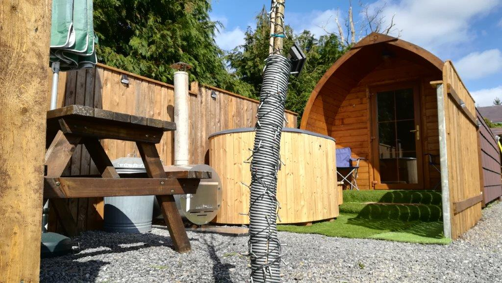 Glamping Pod with private hot tub