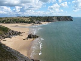 Stunning views at three cliffs bay